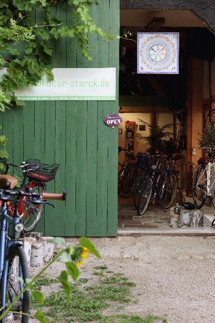 Eingang Radkultur - Starck
